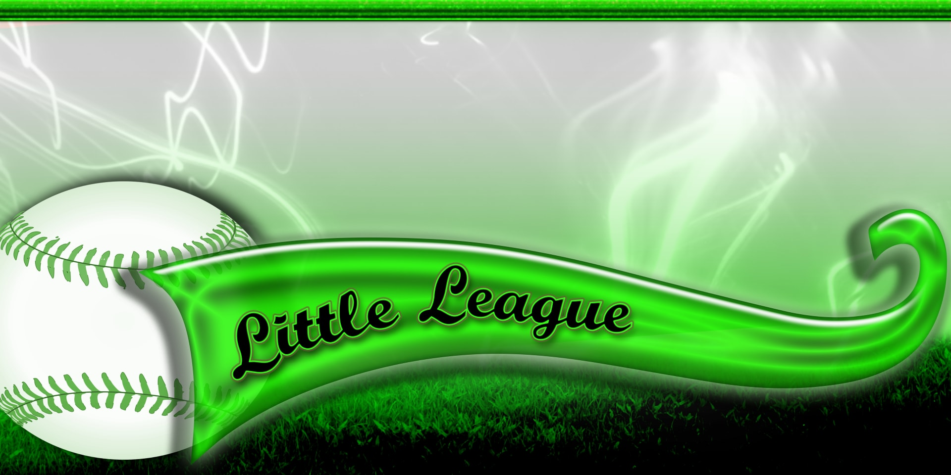 Sports Banners Little League Green