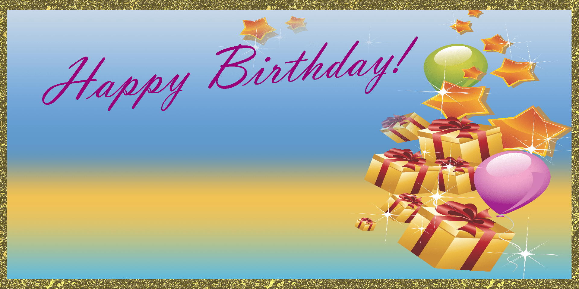 birthday banner images  Happy Birthday Banner - Gift Stars Gold - Vinyl Banners | Gatorprints