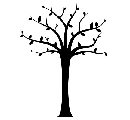 Wall Decals Tree Black