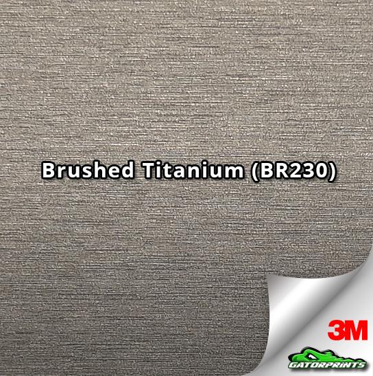 60 Quot 3m 1080 Brushed Titanium Br230 Vinyl Wrap Gatorprints