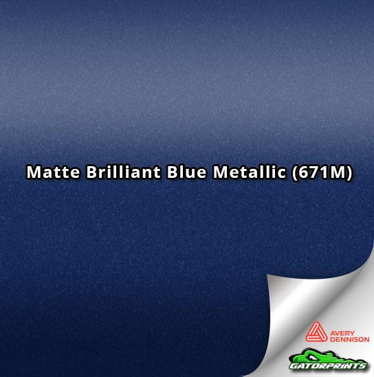 Matte Brilliant Blue Metallic (671M)